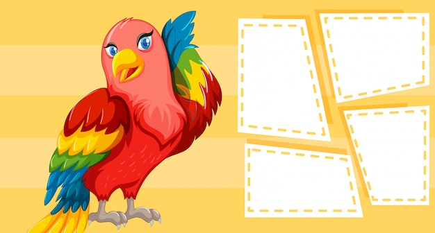 Bird themed design for writing Free Vector