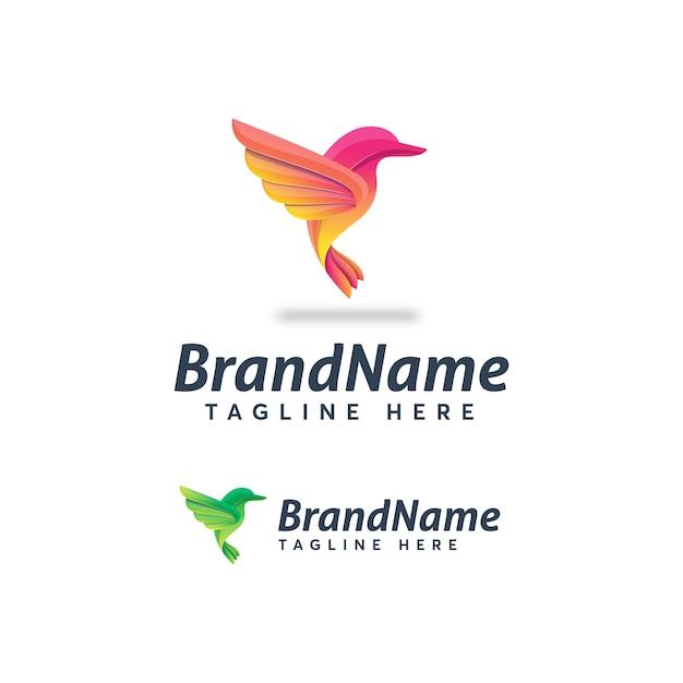 Birds logo template ilustration icon Premium Vector