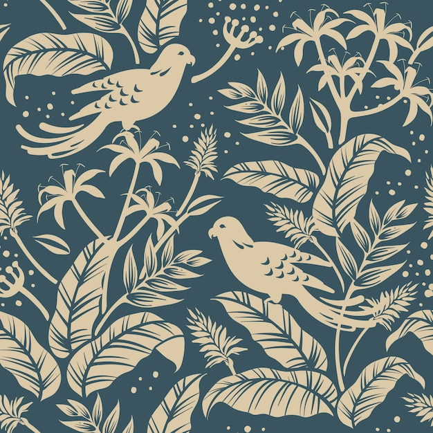 Birds in the nature design Free Vector