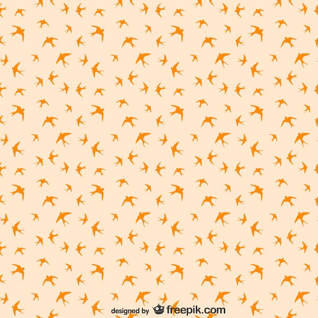 Birds seamless pattern Free Vector