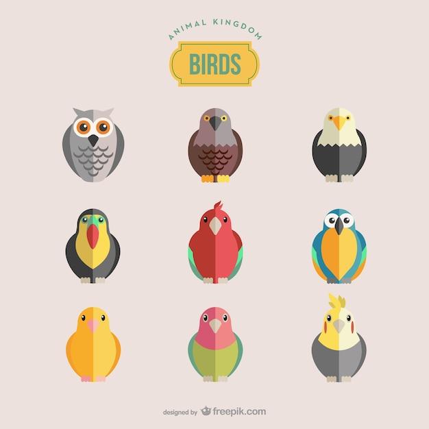 Birds set Free Vector