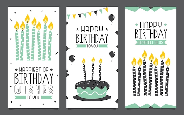 Birhday invitation card design Premium Vector