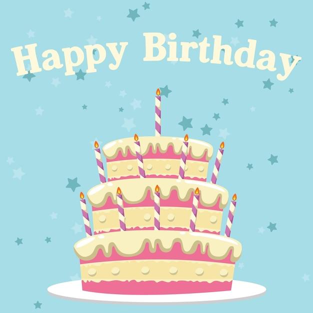 Birthday Background Design Vector