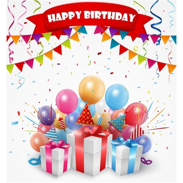 Birthday background design Vector Premium Download
