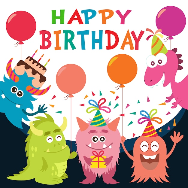 Free Vector Birthday Background Design