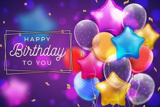 День рождения фон в плоском дизайне Бесплатные векторы