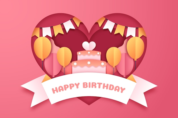 Birthday Background With Cake Free Vector