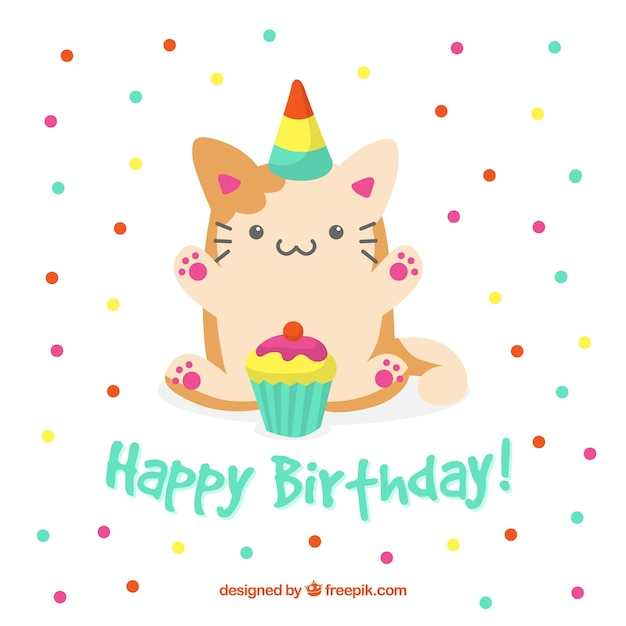 birthday background with cute cat vector free download free clipart birthday cake images free clip art birthday cake with candles