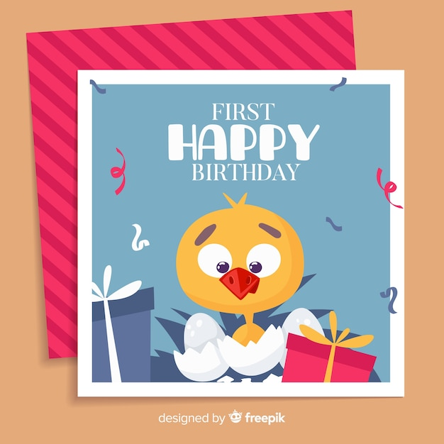 Birthday background Free Vector