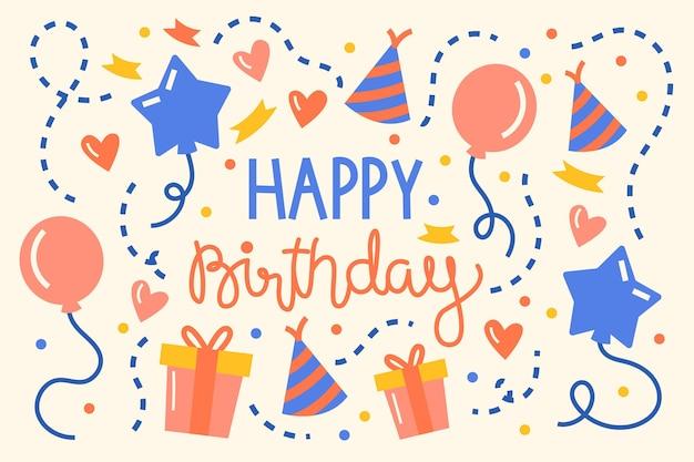 День рождения фон Premium векторы