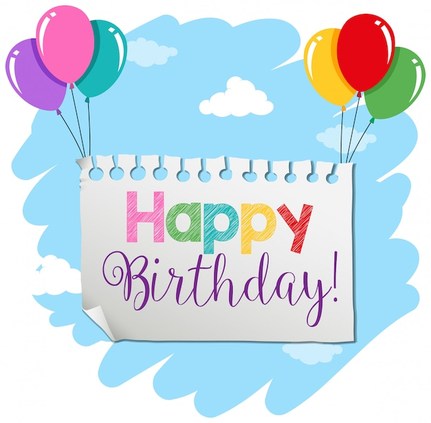 A birthday banner template Free Vector
