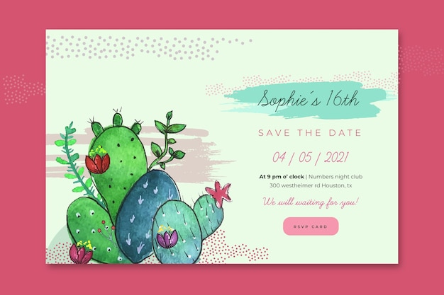 Birthday banner template Free Vector