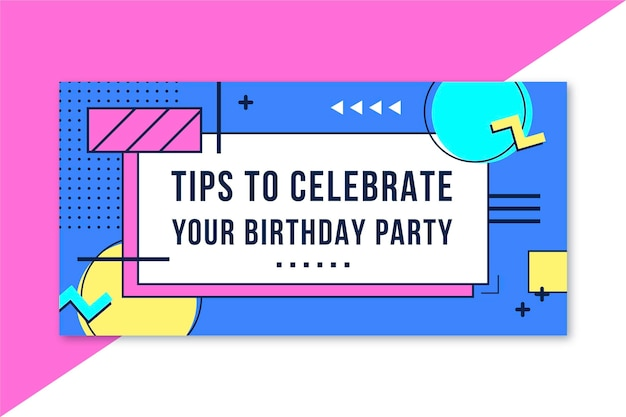 Шаблон заголовка блога дня рождения Бесплатные векторы