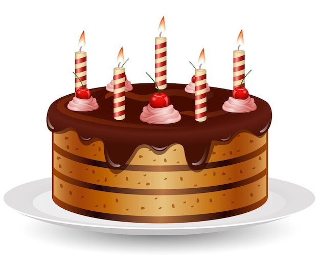 Birthday Cake Images Vektor ~ Birthday cake cartoon vector premium download