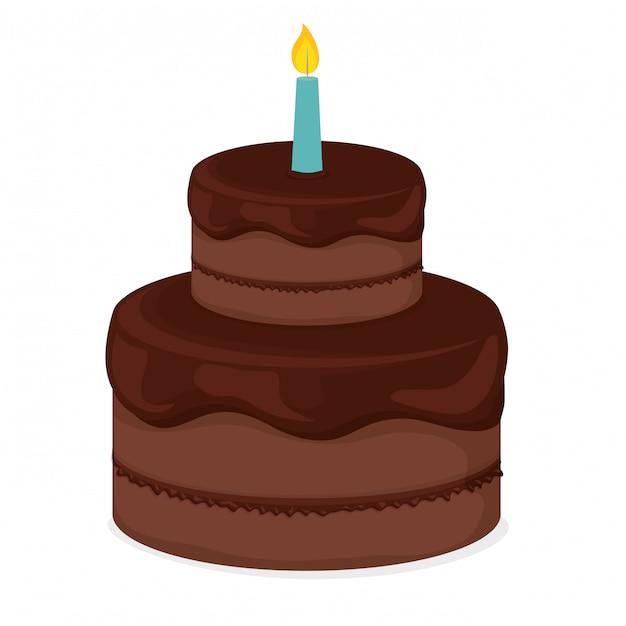 Wondrous Birthday Cake Clip Art Image Free Vector Funny Birthday Cards Online Overcheapnameinfo