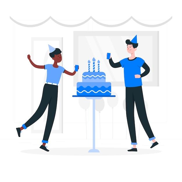 Birthday Cake Concept Illustration Free Vector