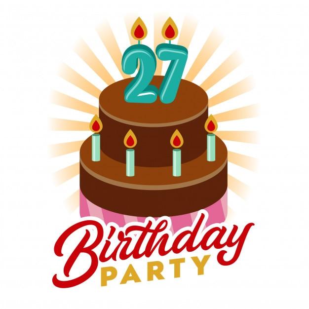 Birthday Cake Vector Illustration Vector Premium Download