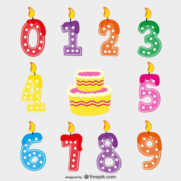 Birthday Candles Vector Free Download