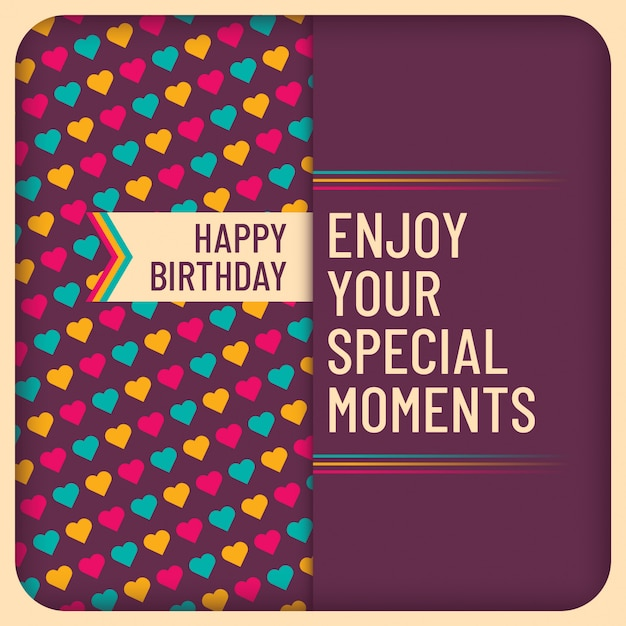 Birthday card design Premium Vector