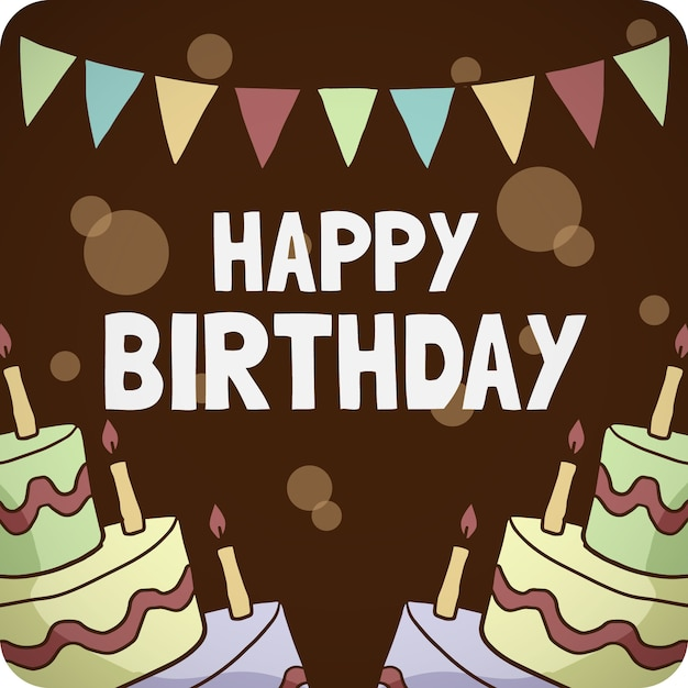 Birthday card on a wooden background