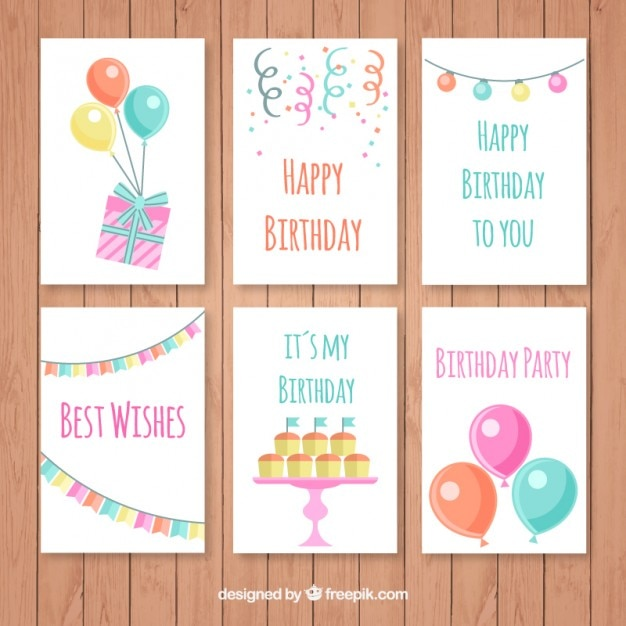 Birthday Card Set – Set of Birthday Cards