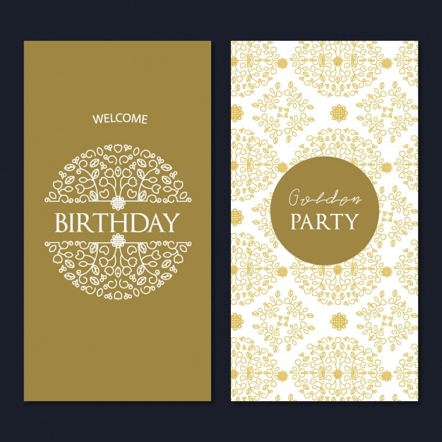 Birthday Card Template Design Vector