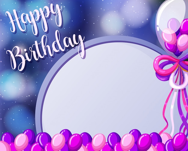 Free Vector A Birthday Card Template