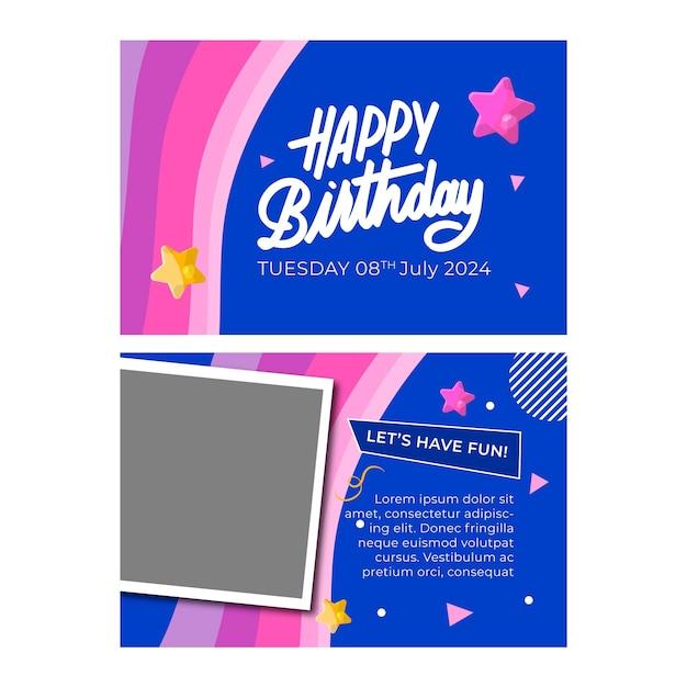 Modello di carta di compleanno Vettore gratuito