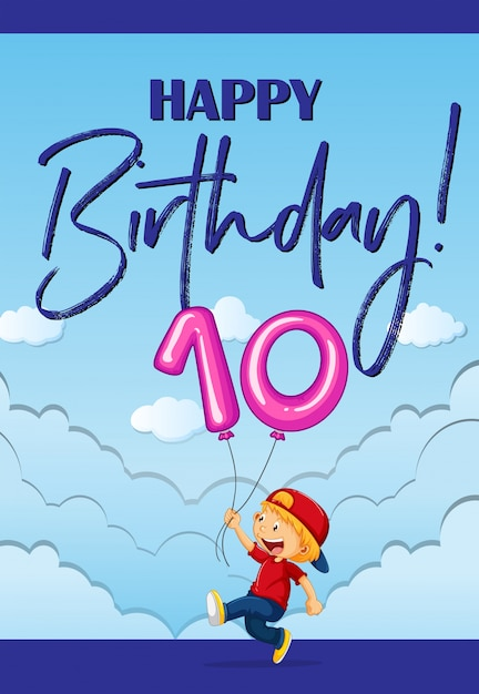 Birthday card with boy and number ten vector free download birthday card with boy and number ten free vector bookmarktalkfo Gallery