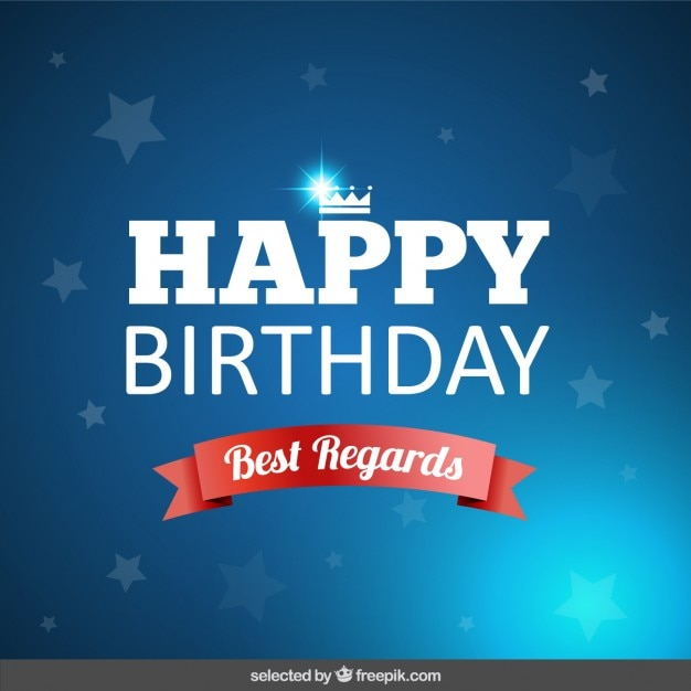 Birthday Card With Stars Vector Free Download