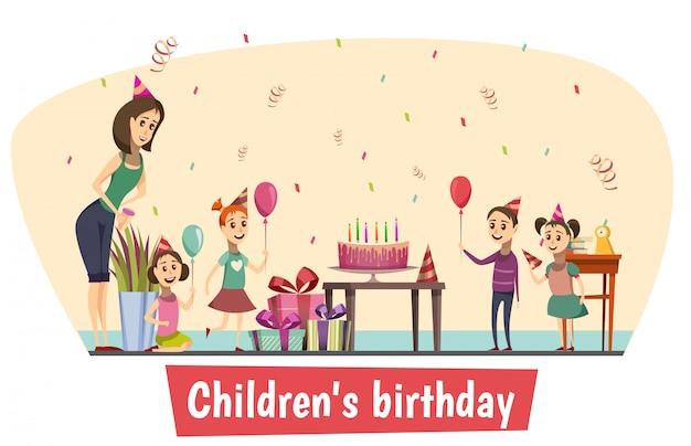 Birthday celebration composition Free Vector