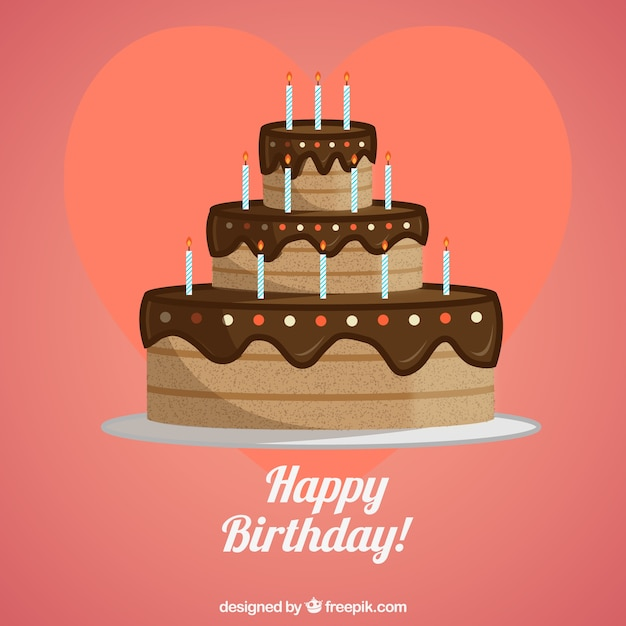 Birthday Chocolate Cake Vector Free Download