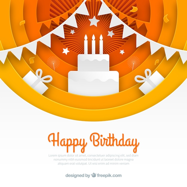 Birthday composition with flat design Free Vector