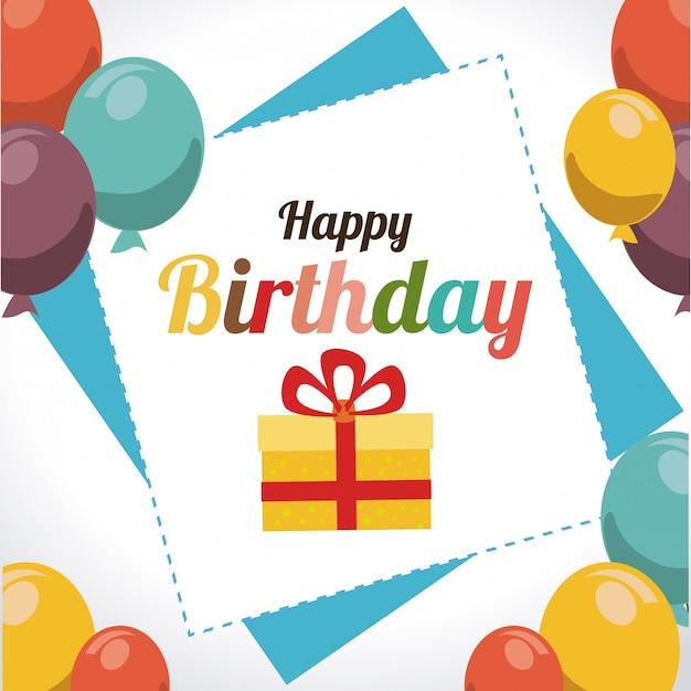 Birthday design illustration Free Vector