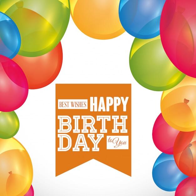 Birthday design Premium Vector
