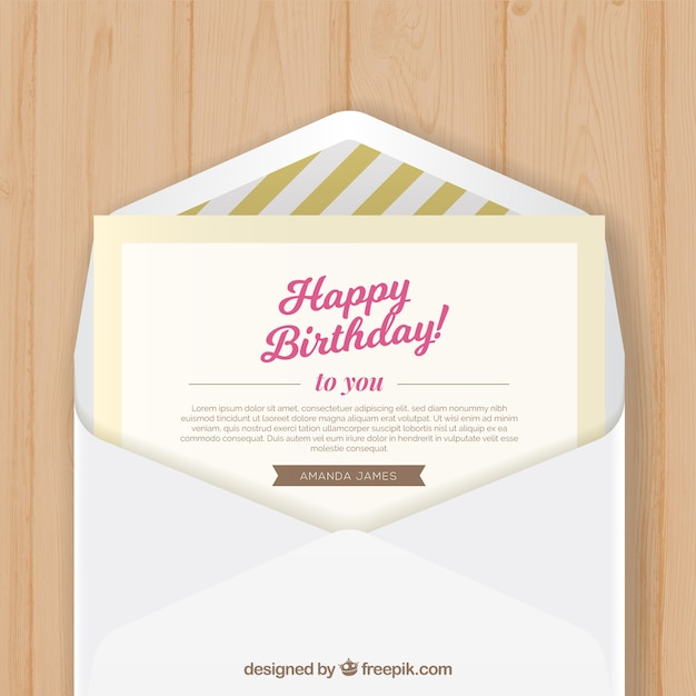 Birthday envelope with birthday greeting card vector free download birthday envelope with birthday greeting card free vector m4hsunfo