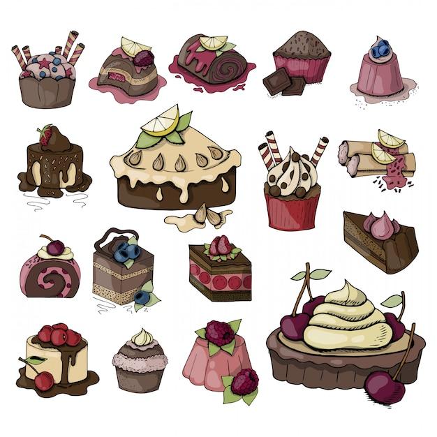 Birthday food Premium Vector