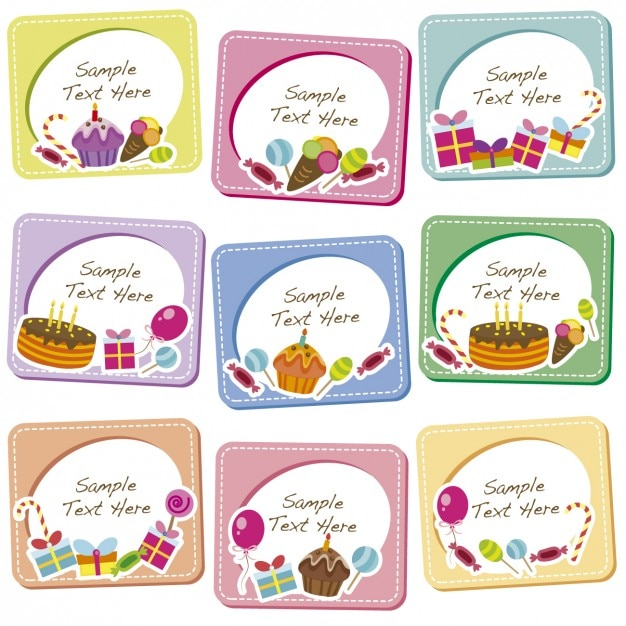Birthday Frames Collection Free Vector