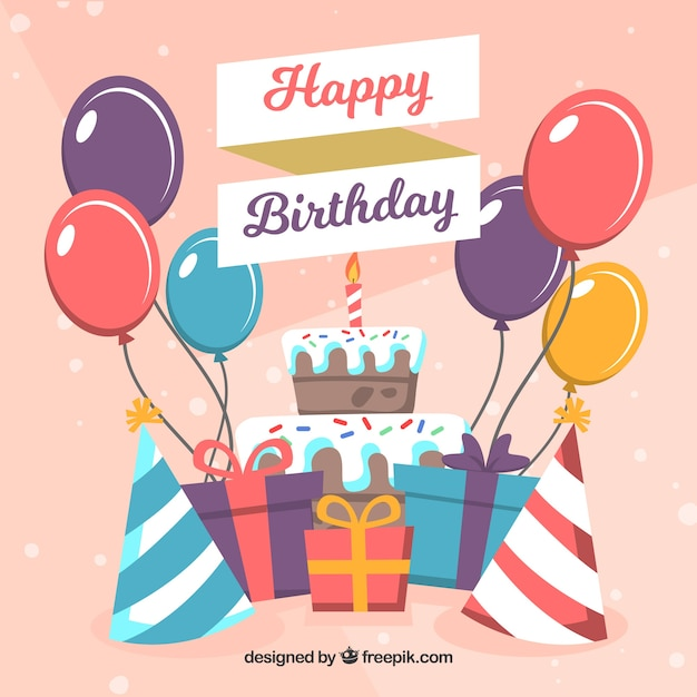 Birthday gift and decoration background vector free download birthday gift and decoration background free vector negle Gallery