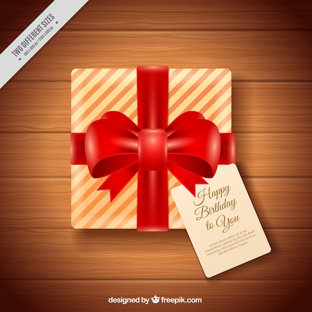 Birthday gift background with red ribbon vector free download birthday gift background with red ribbon free vector negle Images