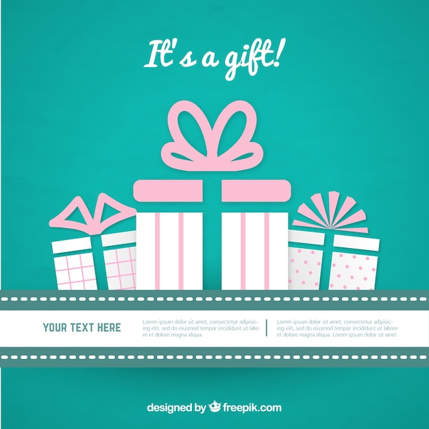 Birthday Gift Card Vector Premium Download