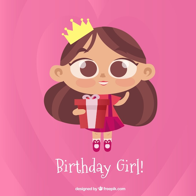 Birthday girl Vector  Free Download