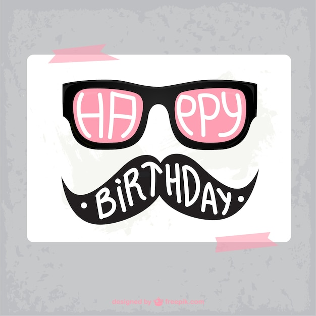 Birthday hipster card vector free download birthday hipster card free vector bookmarktalkfo Gallery