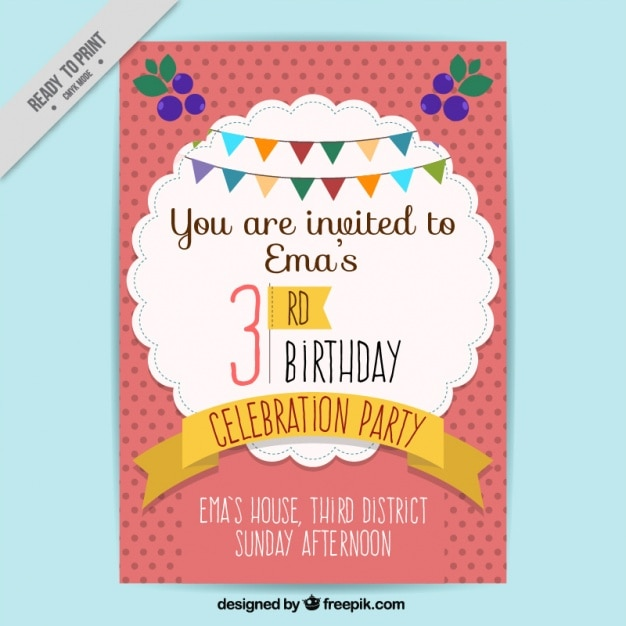 birthday invitation background