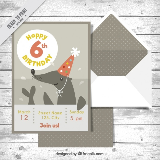 Birthday invitation with nice seal and envelope vector free download birthday invitation with nice seal and envelope free vector stopboris Images
