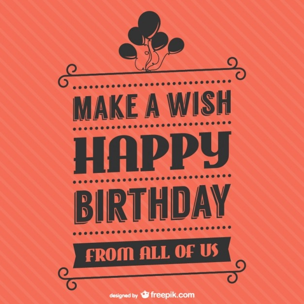 Birthday lettering vector