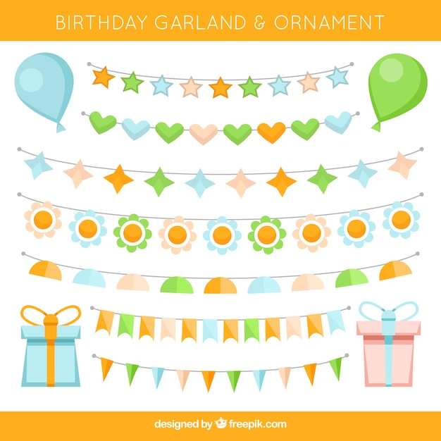 download vector birthday ornaments set vectorpicker