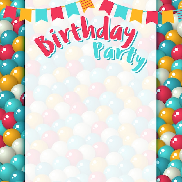 Birthday Party Background Vector Premium Download