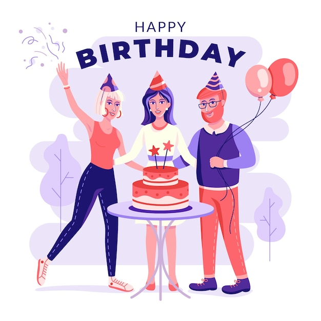 Birthday party background Free Vector