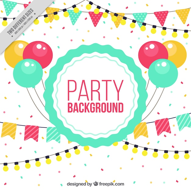Birthday Party Elements Background Vector